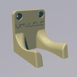 Download free 3D printing files ukulele wall mount, lenaicdupin