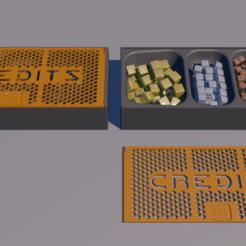 Télécharger fichier STL gratuit Terraforming Mars credits storage 190*85*40mm • Objet à imprimer en 3D, lenaicdupin