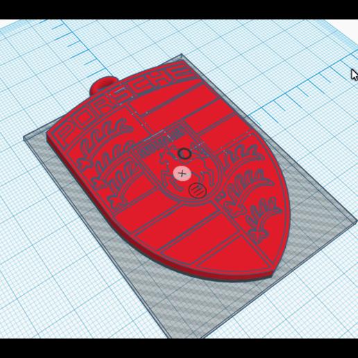 Download 3D printer templates porsche logo keychain, maximebrisson77