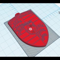 Descargar modelos 3D para imprimir llavero con el logo de porsche, maximebrisson77