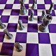 Download 3D printer model Chess Avengers vs Justice League, PRAN3D