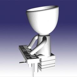 roberto tecladista.jpg Télécharger fichier STL robert keyboardist • Objet à imprimer en 3D, fedeagon16