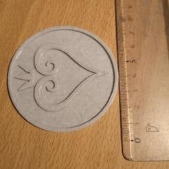 KDH.jpg Download STL file kingdom hearts DESSOUS DE VERRE DE VERRE / MEDAL / PARTS • 3D print object, bemery