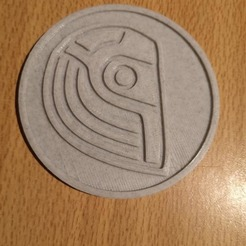 dp 1.jpg Télécharger fichier STL DAFT PUNK CASQUE DESSOUS DE VERRE / MÉDAILLON / PIÈCES • Plan à imprimer en 3D, bemery