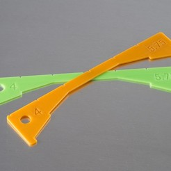 Download free STL file Crab Ruler (California) • Object to 3D print, WalterHsiao
