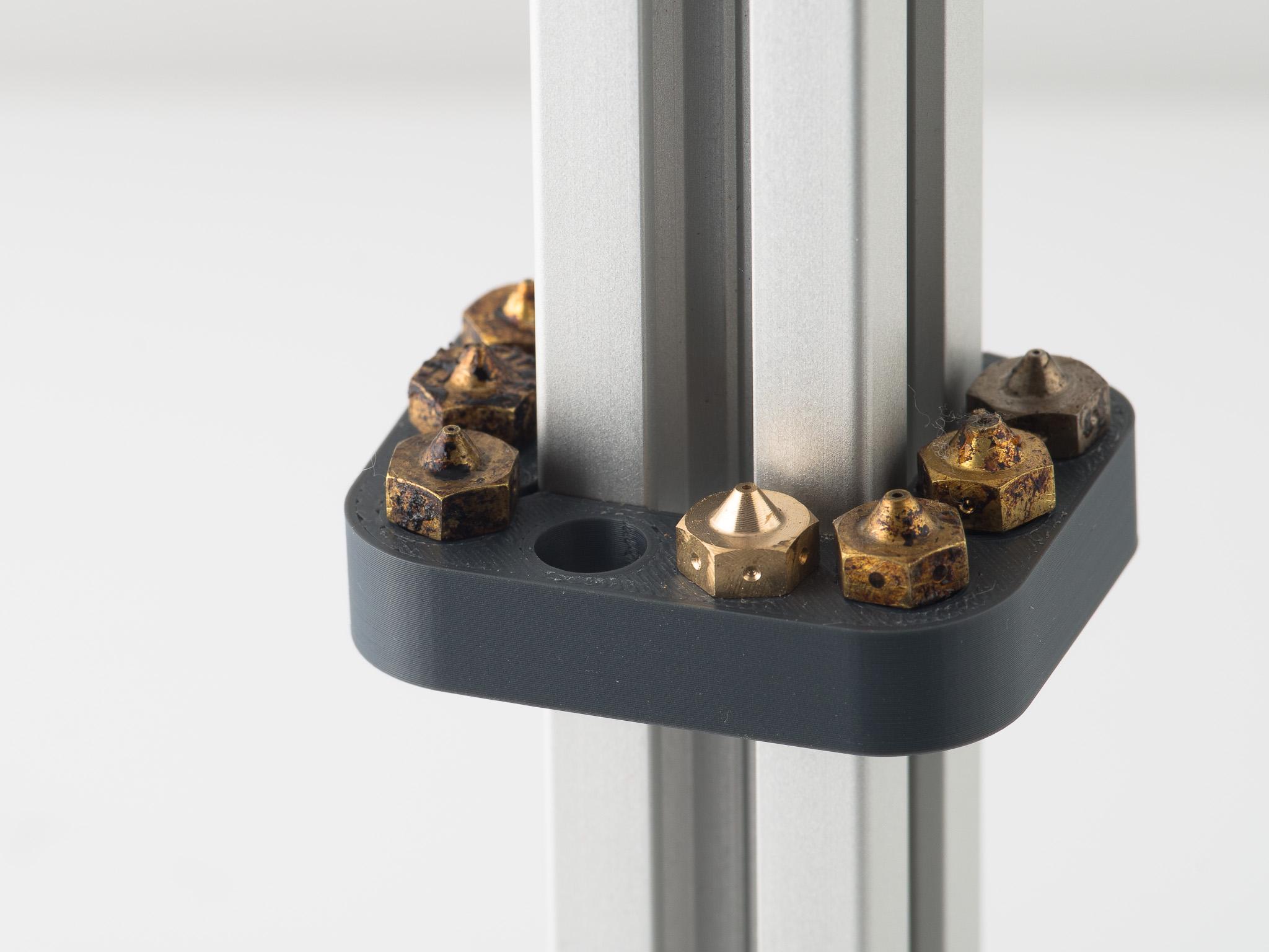 IMGP4874.jpg Download free STL file 2020 Nozzle Rack 8 • 3D print object, WalterHsiao