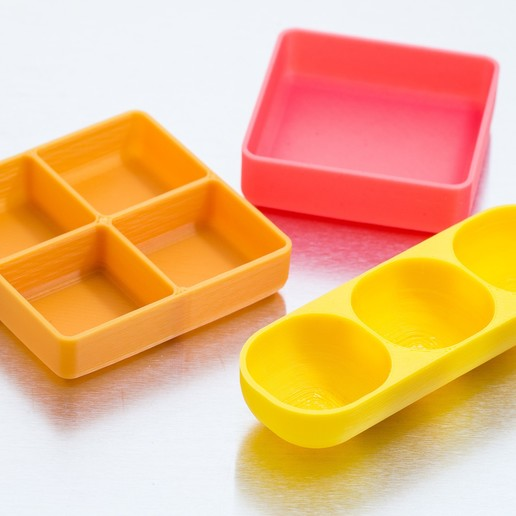 Download free 3D printing models Customizable Square Trays, WalterHsiao