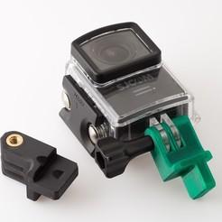 IMGP4630.jpg Télécharger fichier STL gratuit Support de caméra pour planche de surf • Modèle pour impression 3D, WalterHsiao