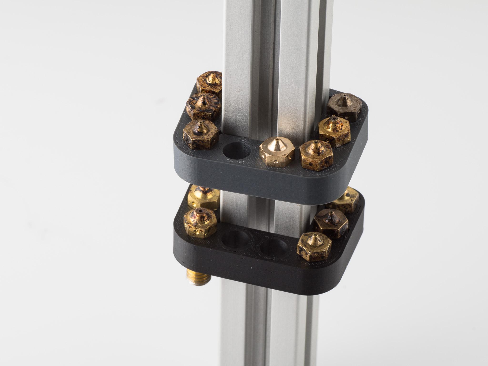 IMGP4893.jpg Download free STL file 2020 Nozzle Rack 8 • 3D print object, WalterHsiao