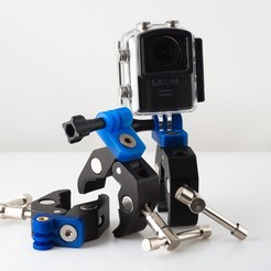 Download free 3D printer designs GoPro Style Adapter, WalterHsiao