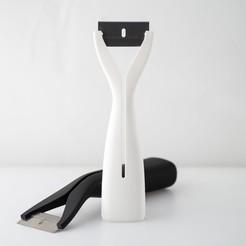 IMGP5026.jpg Télécharger fichier STL gratuit Grande poignée de racleur de rasoir • Objet à imprimer en 3D, WalterHsiao