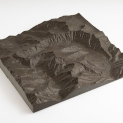 Download free 3D printing templates Trinity Alps Maps, WalterHsiao