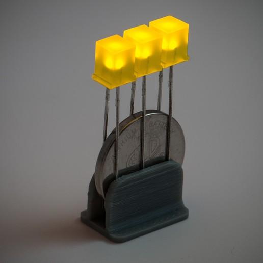 Download free 3D printer templates LED Light Clip, WalterHsiao