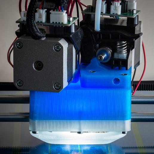 IMGP0008.jpg Download free STL file Jellyfish Mount (RigidBot Dual E3Dv6) • 3D printer object, WalterHsiao