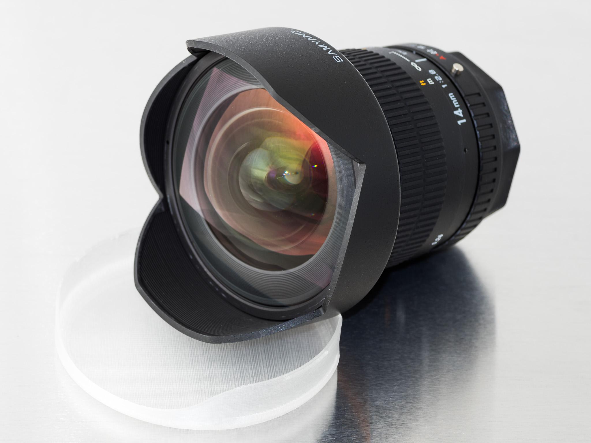 P20_0135.jpg Télécharger fichier STL gratuit Capuchon d'objectif (pour Samyang 14mm f/2.8) • Design pour imprimante 3D, WalterHsiao