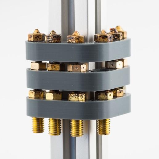 Download free STL 2020 Nozzle Rack 6, WalterHsiao