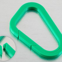 Download free STL Asymmetric Carabiner, WalterHsiao