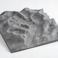 Download free 3D print files Sequoia and King's Canyon Park Maps, WalterHsiao