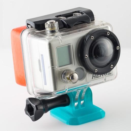 Descargar archivos 3D gratis Adaptador de trípode GoPro a Arca Swiss, WalterHsiao
