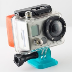 Download free 3D printer designs GoPro to Arca Swiss Tripod Adapter, WalterHsiao