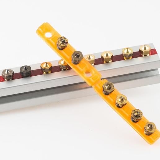Download free 3D printer model Threaded Nozzle Rack T-nut, WalterHsiao