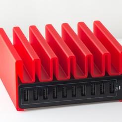 Download free 3D printer templates USB Charging Stand, WalterHsiao
