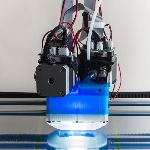 IMGP0003.jpg Download free STL file Jellyfish Mount (RigidBot Dual E3Dv6) • 3D printer object, WalterHsiao
