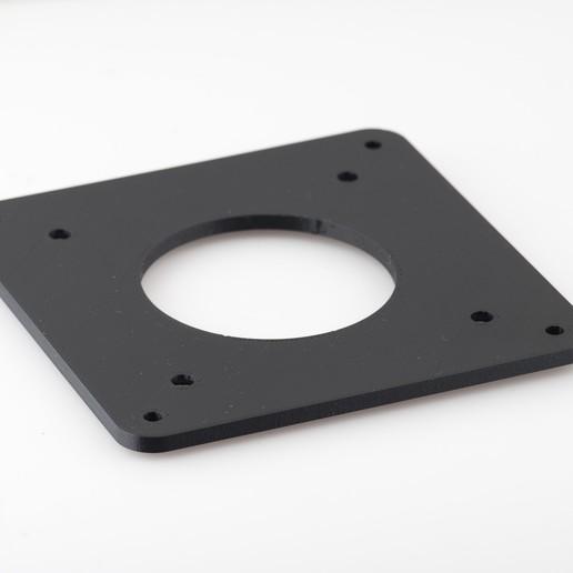 IMGP4987.jpg Télécharger fichier STL gratuit Adaptateur de plaque de moniteur Vesa 75mm à 100mm • Plan à imprimer en 3D, WalterHsiao