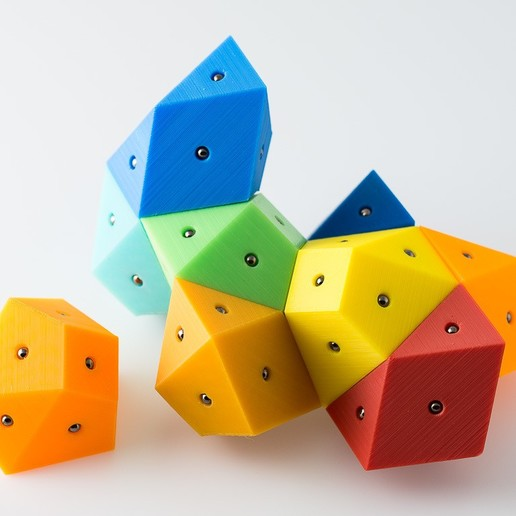 Télécharger fichier STL gratuit Hendécaèdres Bisymétriques Magnétiques Bisymétriques • Objet pour impression 3D, WalterHsiao