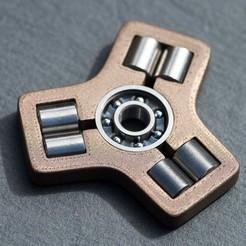 Télécharger fichier 3D gratuit Tungstène-Bronze Fidget Spinner, WalterHsiao