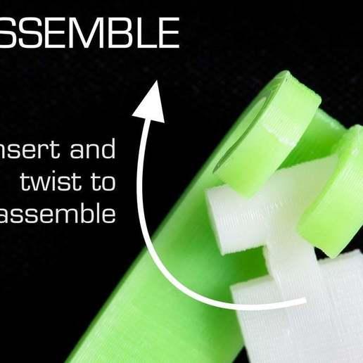 assemble.jpg Download free SCAD file Customizable Bag Clip • 3D printable design, WalterHsiao
