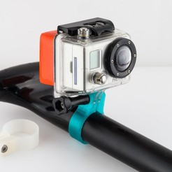 Download free 3D printer files Tube Mount (for GoPro), WalterHsiao