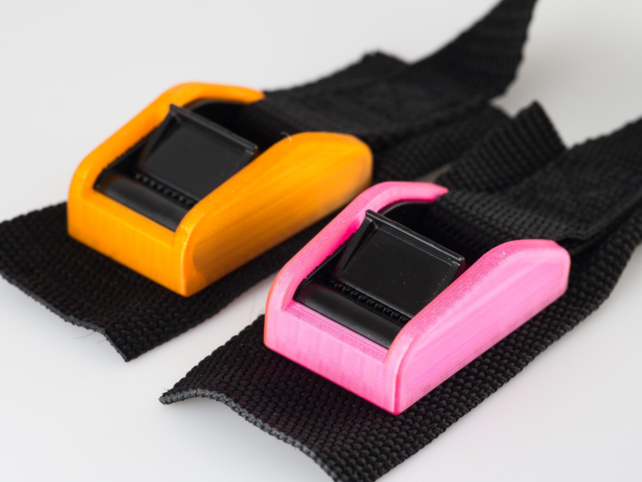 IMGP6812.jpg Download free STL file Tie-down strap covers • 3D printer template, WalterHsiao