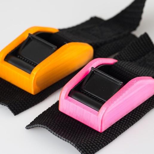 Download free 3D printer designs Tie-down strap covers, WalterHsiao