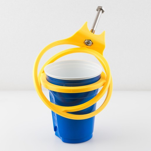 IMGP1051.jpg Download free STL file Crutch Cup and Can Holder • 3D printable design, WalterHsiao