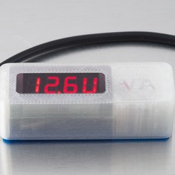 Download free 3D printing designs Voltmeter/Ammeter Case - 2, WalterHsiao