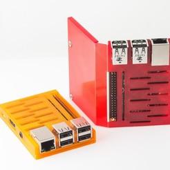 IMGP7520.jpg Télécharger fichier STL gratuit Étui Pi pliable pour framboise et framboise • Objet à imprimer en 3D, WalterHsiao