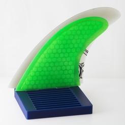 Télécharger STL gratuit Organisateur d'ailerons de surf - FCS, WalterHsiao