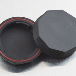 Download free 3D printing designs Rear Lens Cap - NinjaFlex (for Pentax K-Mount), WalterHsiao
