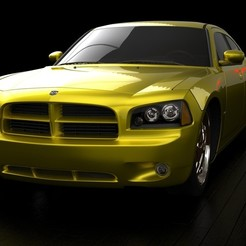 Download 3D printing templates Dodge Charger SRT8 3D model, MetGraphics