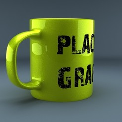 Download 3D printing templates Creamic mug with textures and render scene 3D model, MetGraphics