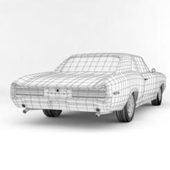 Télécharger STL Pontac GTO 2 portes à toit rigide Modèle 3D 1966, MetGraphics