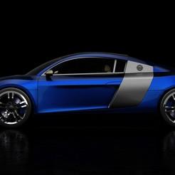 Download STL Audi R8 2008 3D Model, MetGraphics