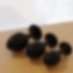 Télécharger objet 3D 3 Butt Plugs Medium Collection (4-5cm de large), FakeAlex
