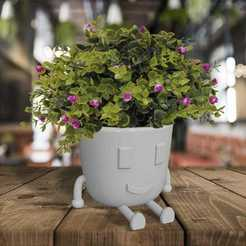 WhatsApp Image 2020-08-16 at 04.46.04.jpeg Download STL file flowerpot with feet and face  • Model to 3D print, federicoserra30