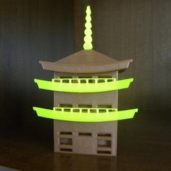 Download free 3D printing templates Japan castle, vpeliana