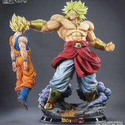 Download free STL file Broly vs Goku, asakuralara