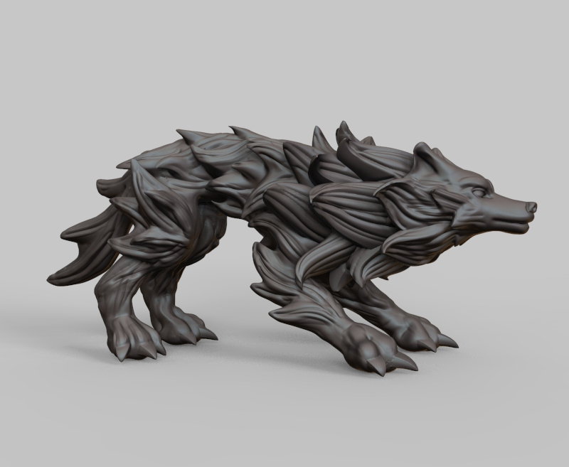 untitled.66.jpg Download free STL file Needle wolf • 3D printer model, Shinokez