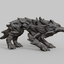 Download free 3D printer templates Needle wolf, Shinokez