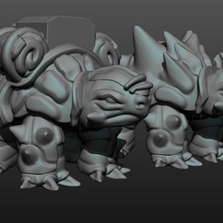 turtle_dobule.jpg Download free STL file Double Tortoise • 3D printing template, Shinokez